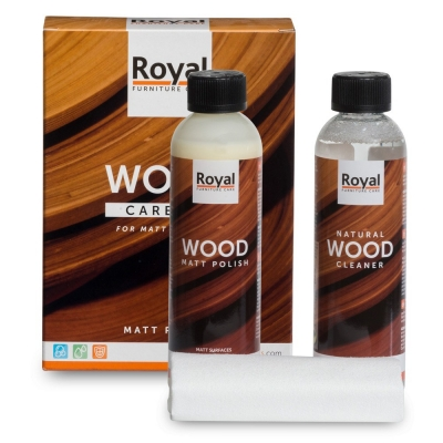 Wood Care Kit Matt Polish & Cleaner