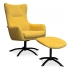 Eijerkamp Collectie Fauteuil + Hocker Sjoerd
